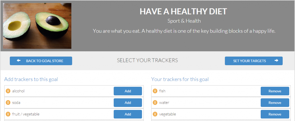 Have a healthy diet - goalmap screenshot