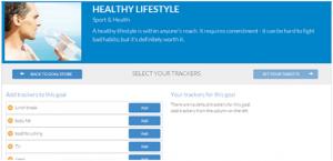 Helathy Lifestyle goalmap