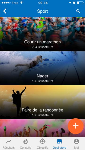 Courir un marathon sur goalmap