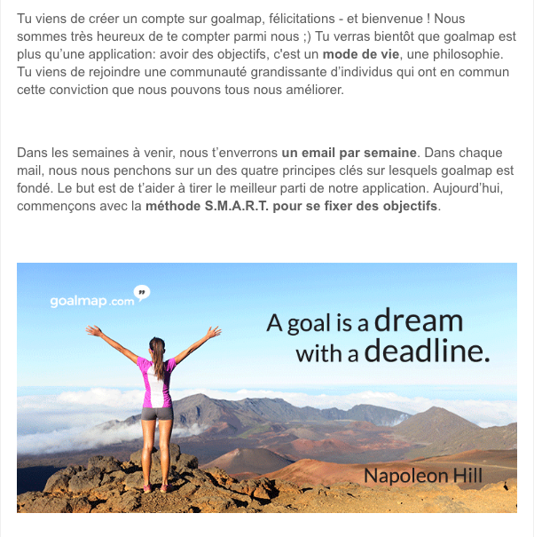 email course goalmap pour atteindre ses objectifs