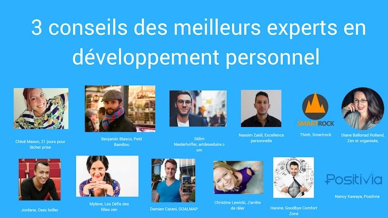 conseils développement personnel et motivation des meilleurs experts français