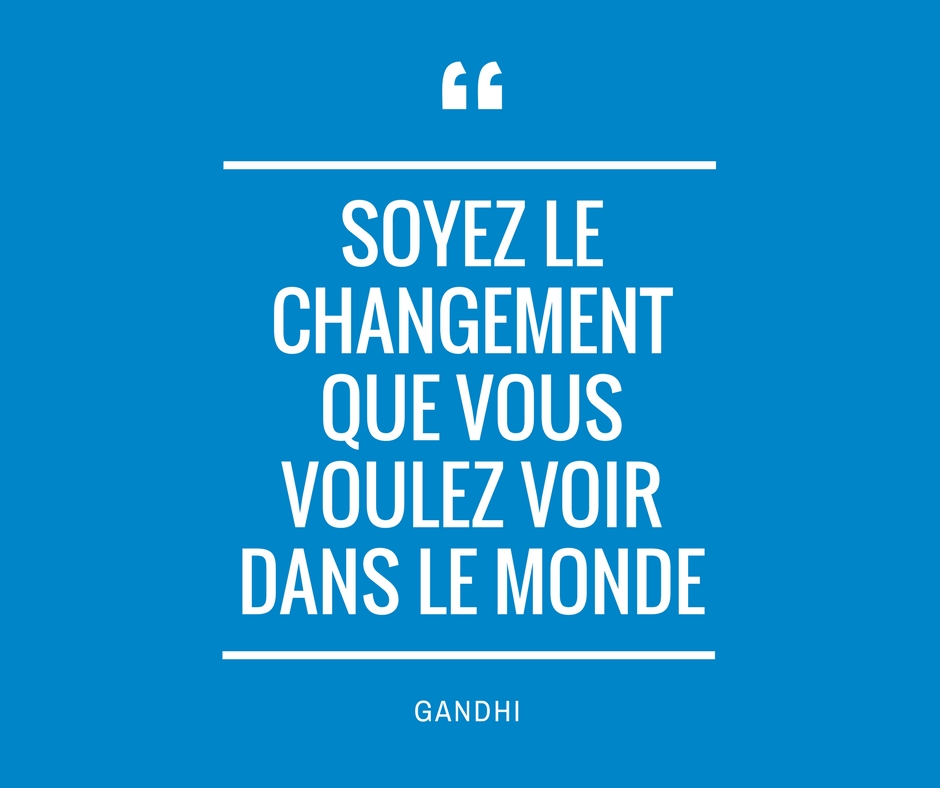 Citation gandhi changement
