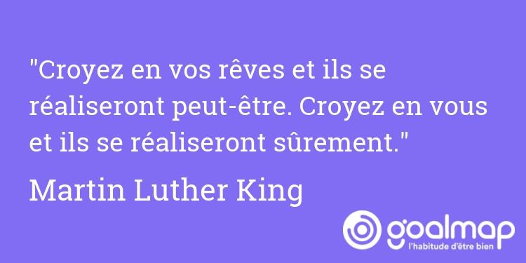 Citation développement personnel Martin Luther King